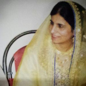 The most beautiful woman in this world - my mother. May Allah grant her the highest place in Jannah.