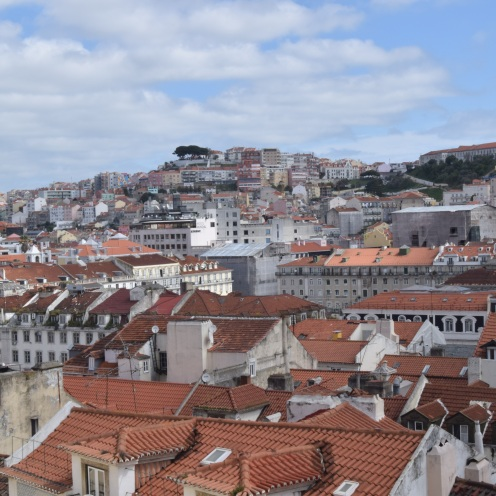 The view from the Santa Justa lift, Lisbon, Portugal